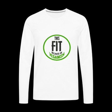 Vegan Vegan Slimming Fit Fitness regalo - Camiseta de manga larga premium hombre