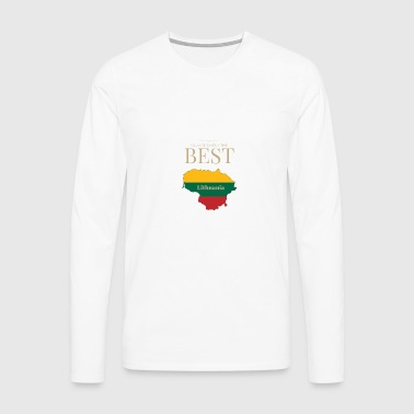 Lithuania is simply the best - Men's Premium Longsleeve Shirt