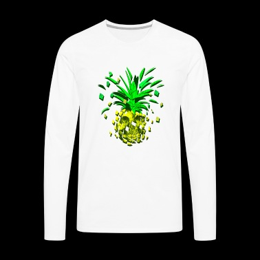 Crazy pineapple skull - Men's Premium Longsleeve Shirt