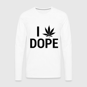 I love Dope - T-shirt manches longues Premium Homme