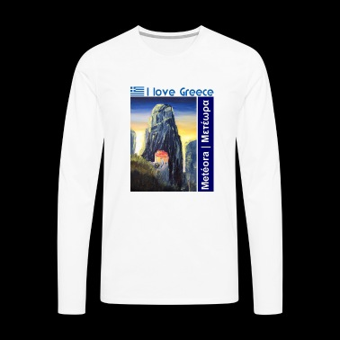 I love Greece. Blue Meteora - Men's Premium Longsleeve Shirt