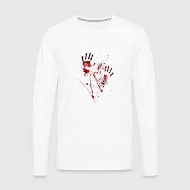 Blood Print - Blood Hands - Blood Splatters - Blood - Men's Premium Longsleeve Shirt
