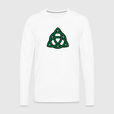 Celtic Knot Triquetra Patricks Day Triangle Circle - Men's Premium Longsleeve Shirt