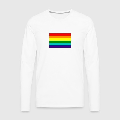 Gay pride rainbow flag - Men's Premium Longsleeve Shirt