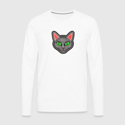 Cat face - Men's Premium Longsleeve Shirt