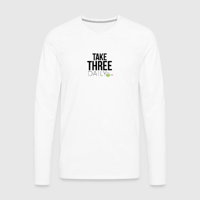 Take three daily - Men's Premium Longsleeve Shirt