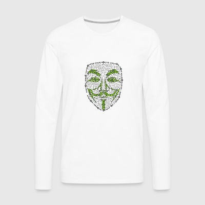 Digitale Anonymous Version 01 - Männer Premium Langarmshirt