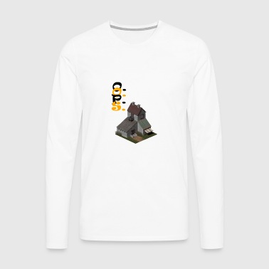 3D house - Men's Premium Longsleeve Shirt