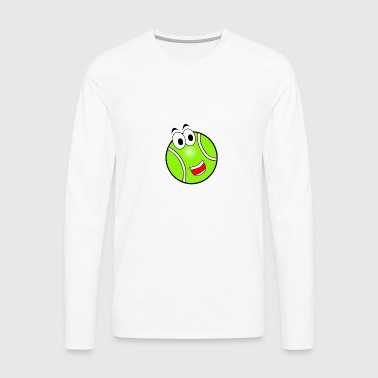 Happy Tennis Ball - Men's Premium Longsleeve Shirt