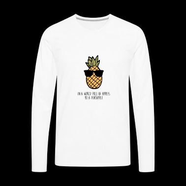Pineapple Pineapple Cool Gift - Men's Premium Longsleeve Shirt