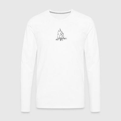 Fire bw - Men's Premium Longsleeve Shirt