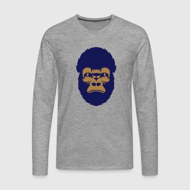 gorille animal grand singe 2608 - T-shirt manches longues Premium Homme