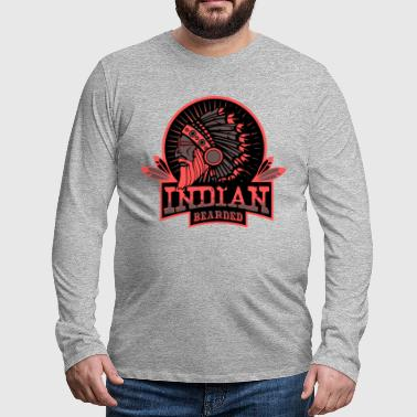 INDIAN BEARDED - T-shirt manches longues Premium Homme