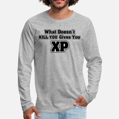 Meme What doesn't kill you gives you XP - Maglietta Premium a manica lunga da uomo