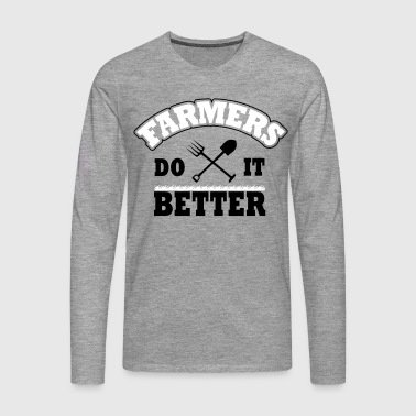 Farmers do it better - Premium langermet T-skjorte for menn