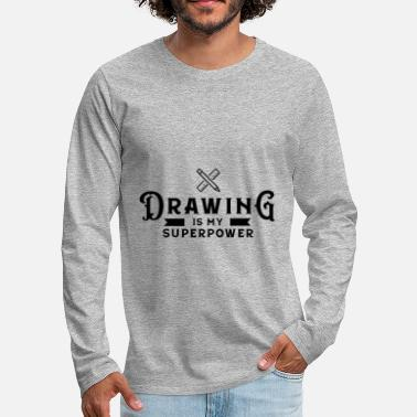 Drawing Drawing Drawing Draftsman drawing drawing - Men's Premium Longsleeve Shirt