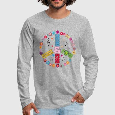 Peace and Love, Rock and Music - Men's Premium Longsleeve Shirt