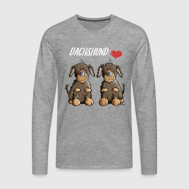 Best Friends Dackel - Männer Premium Langarmshirt