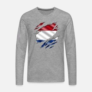 002e0e8270949 Pays-Bas sous la chemise. T-shirt premium Homme   Spreadshirt