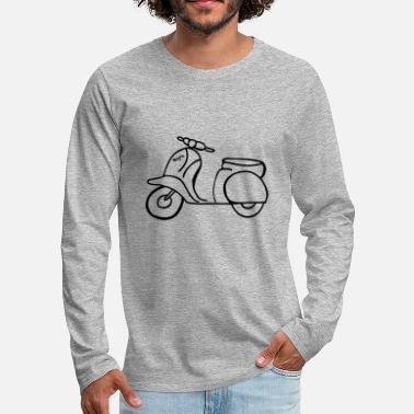 Scooter Retro scooter - Men's Premium Longsleeve Shirt