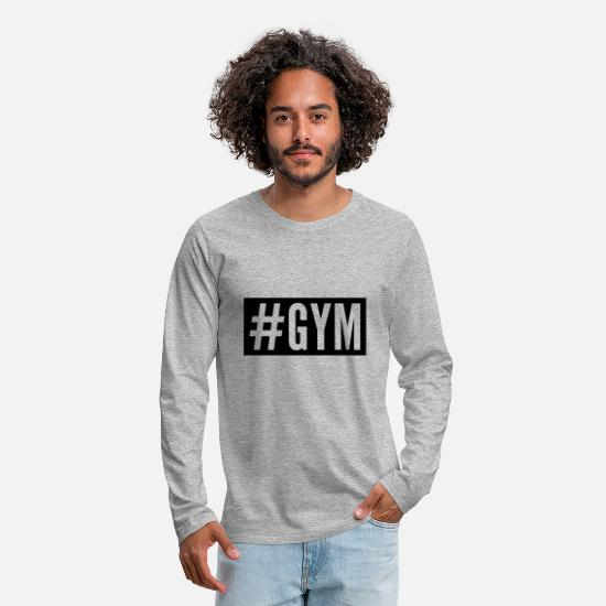 Beast Mode Long sleeve shirts - Gym - Men's Premium Longsleeve Shirt heather grey