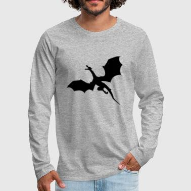 Dragon Comic Gift Gift Idea - Men's Premium Longsleeve Shirt