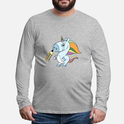 Einhorn Zeichnen Männer Premium Langarmshirt Spreadshirt