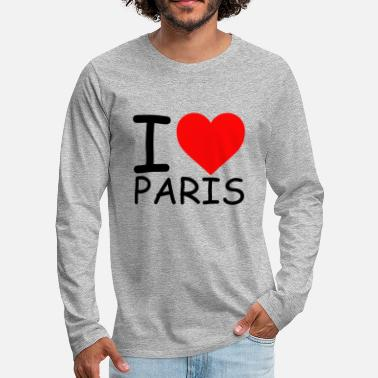 I Love Paris I Love Paris libe Paris Love Paris Herz Paris - T-shirt manches longues Premium Homme