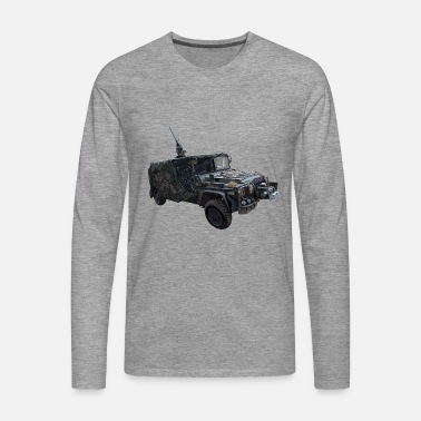 Special Forces KSK Serval Vehicle T-Shirt Command Special Forces - Men's Premium Longsleeve Shirt