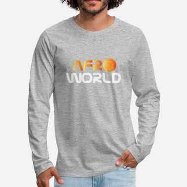 Afro afro world - T-shirt manches longues Premium Homme