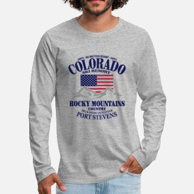 Ski Resort Colorado Ski Resort - United States - Premium langærmet T-shirt mænd
