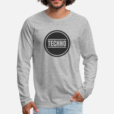 Detroit Techno Circle Techno Merchandise Rave After Hour - Maglietta Premium a manica lunga da uomo