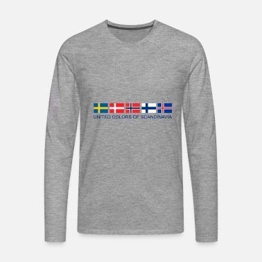 Scandinavia United Colors Of Scandinavia | Scandinavia flag - Men's Premium Longsleeve Shirt