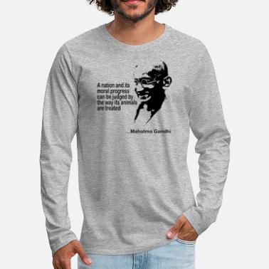 Animal Rights Gandhi Animal Rights - Mannen Premium shirt met lange mouwen