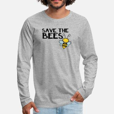 Save the Bees Bees Rescue Beekeepers Gift Idea - Men's Premium Longsleeve Shirt