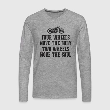 TWO WHEELS BLACK EDITION - Men's Premium Longsleeve Shirt