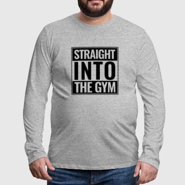 Straight Into The Gym Logo black - Men's Premium Longsleeve Shirt