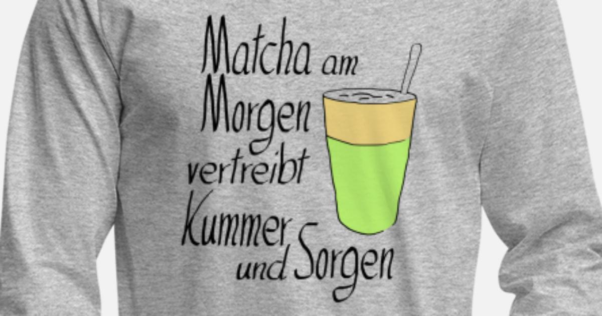 Matcha Am Morgen Kaffe Latte Geschenk Morgenmuffel Männer Premium