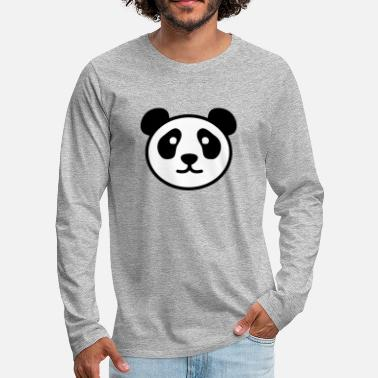 Stylish PANDA STYLISH - Mannen Premium shirt met lange mouwen