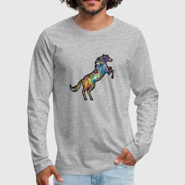 abstract horse - Men's Premium Longsleeve Shirt
