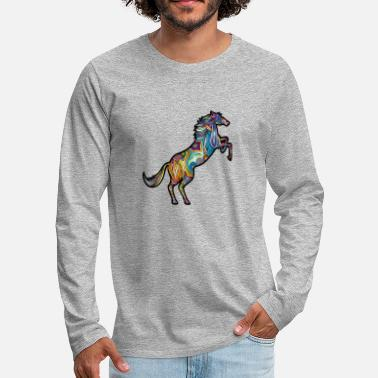 abstract horse - Männer Premium Langarmshirt