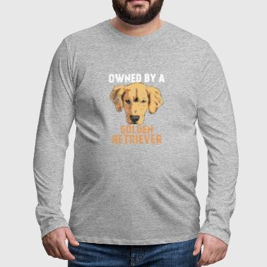 Dogs Grudge - Owned by a golden retriever - Men's Premium Longsleeve Shirt
