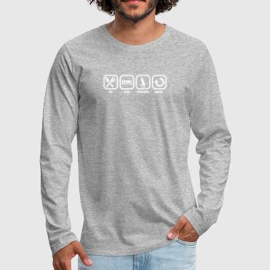 Eat Sleep Windsurfing Repeat - Men's Premium Longsleeve Shirt