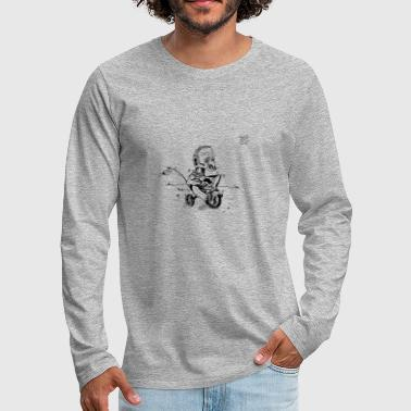 Old man in a tricycle - Men's Premium Longsleeve Shirt