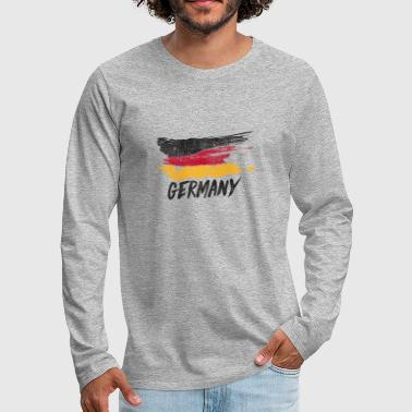 Schland Germany flag - Men's Premium Longsleeve Shirt