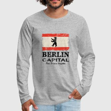 Berlin Vintage Flag - Men's Premium Longsleeve Shirt