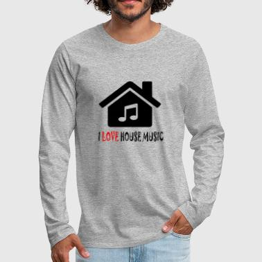 House Music House Party Shirt - Premium langermet T-skjorte for menn