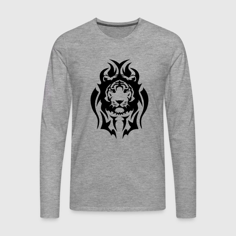 tigre tatouage tribal animal sauvage - T-shirt manches longues Premium Homme