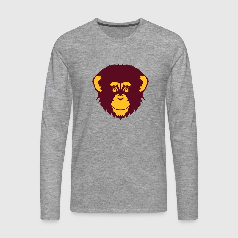 chimpanze singe tete animal dessin 1410 - T-shirt manches longues Premium Homme