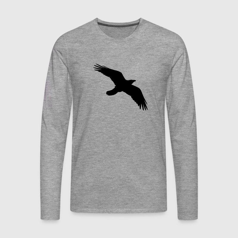 Bird, Crow, Raven - Men's Premium Longsleeve Shirt